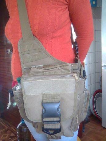 сумка (тактическая )универсальная через плечё. Новая.
