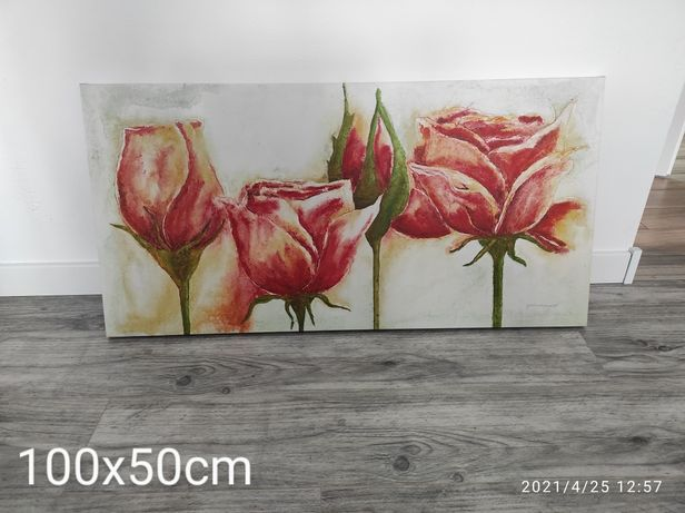 Obraz duży piękne róże na płótnie