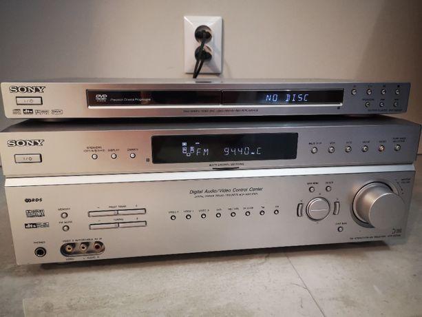 Kino domowe Sony DVD Amplituner STR DE598 drewniane 5 głośników