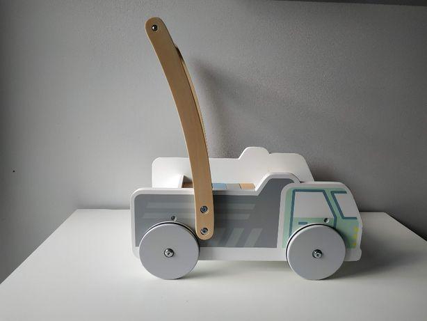Wózek - pchacz samochód z klockami