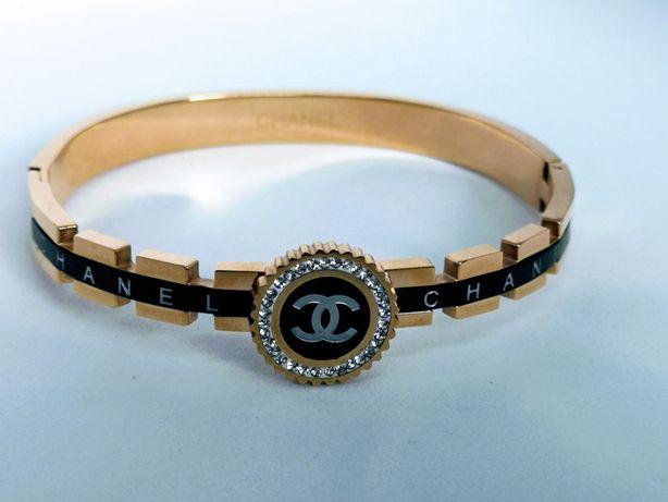 Elegancka bransoletka cc czarno-złota