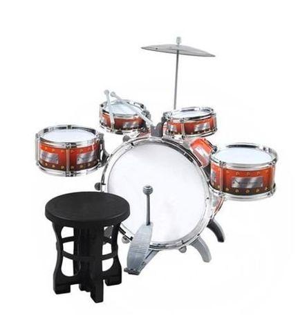 Набор детских барабанов + стульчик + тарелка, ударная установка