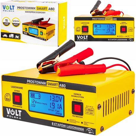 Ładowarka prostownik do akumulatora 6V 12V 24V 15A (PRO50)