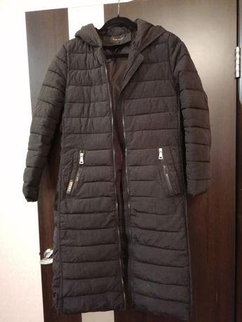 Куртка - пуховик женская длиннкая осень зима демисезонная