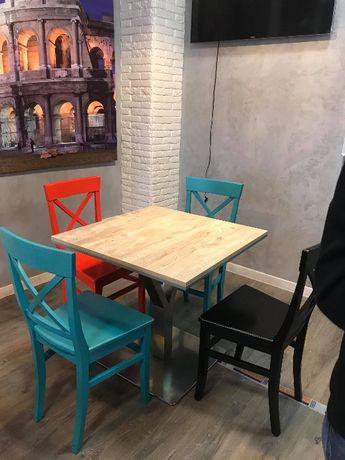 столы для кухни на стальной ножке