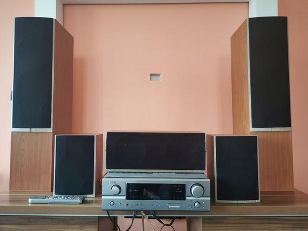 Amplituner Denon AVR-1507 + głośniki + odtwarzacz Blue Ray DVD-2500BT