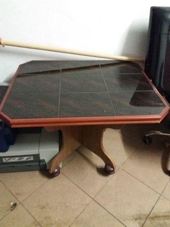 stół stolik na kółkach kafle