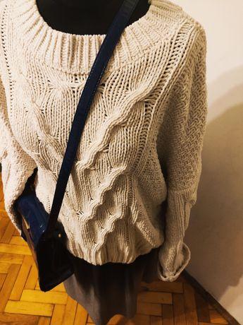 Sweter ciepły dziergany Primark XL 42 miękki luźny
