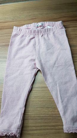 Rozm 74 spodnie leginsy ze srebrną nicią