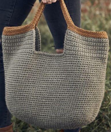 Sacos feitos à mão em crochet