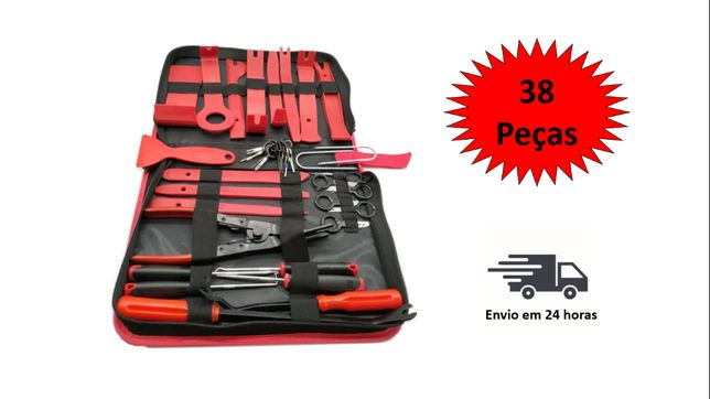 Kit de remoção/desmontagem de painéis e audio de automóveis 38 pc