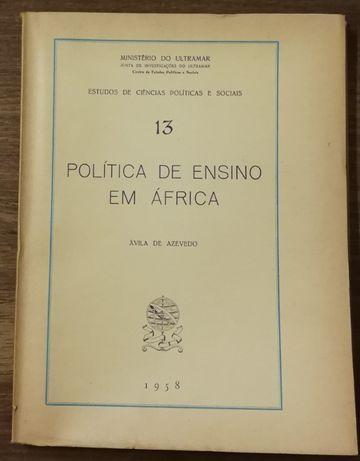 política de ensino em áfrica, ávila de azevedo, 1958