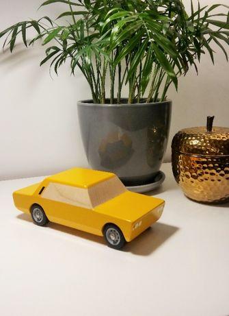 """Drewniany Fiat 125p autko zabawka z drewna - """"Kanciak"""" Bumbaki NOWY"""
