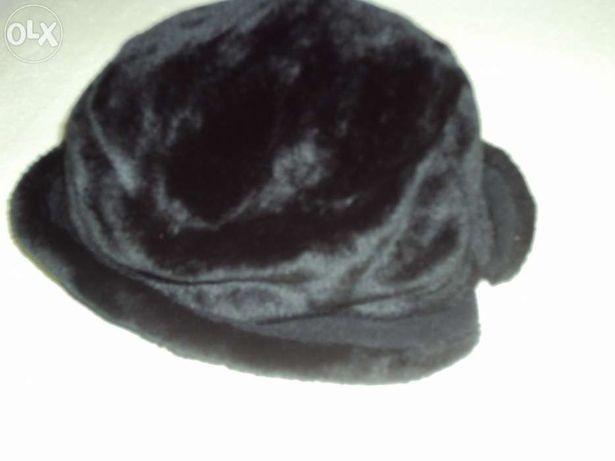 Chapéu preto de pelo aveludado - novo!