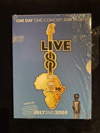 DVD set Live Aid 2005 + pulseira