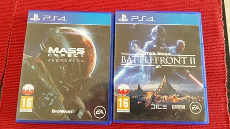 """Gry na PS4 """"Mass effect andromeda"""" oraz """"Star Wars battlefront II"""""""
