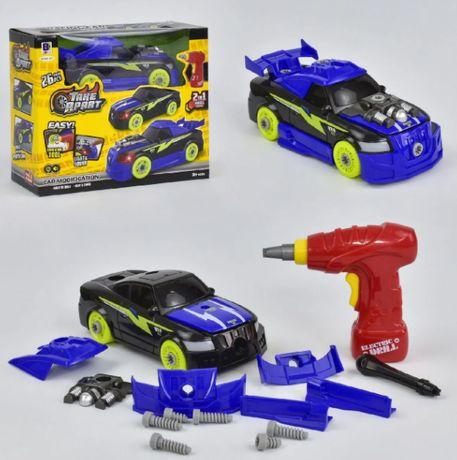 Конструктор машина на шурупах з шуруповертом 26 деталей Машинка