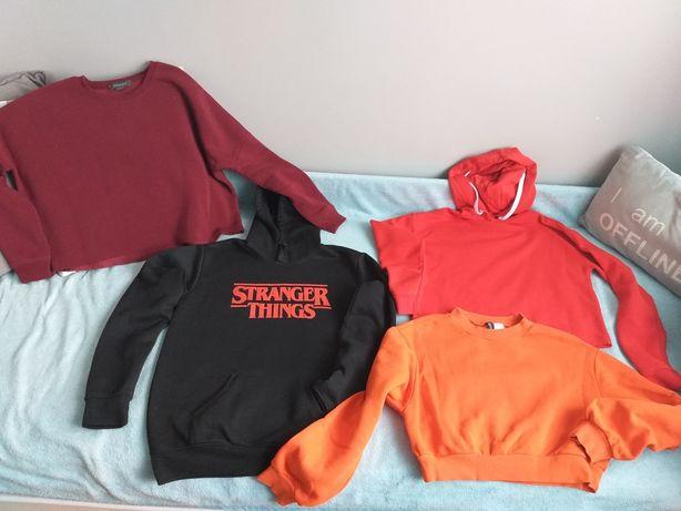 Bluzy czerwona i bordowa