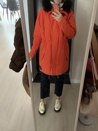Парка курточка куртка пальто calvin klein оригинал теплая