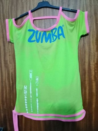 Blusa Zumba amarelo e rosa (portes incluídos)