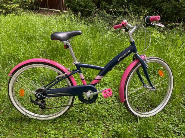 Rower dla dziewczynki b'twin original 500 24 całe prawie nowy