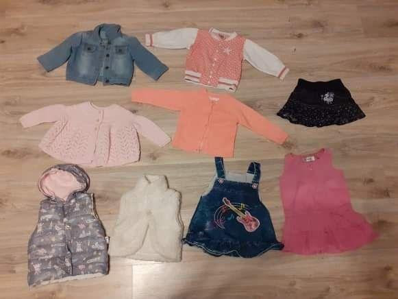 Kurteczka,bluza,sweterek,bezrękawnik,sukienki dla dziewczynki 74,80,86