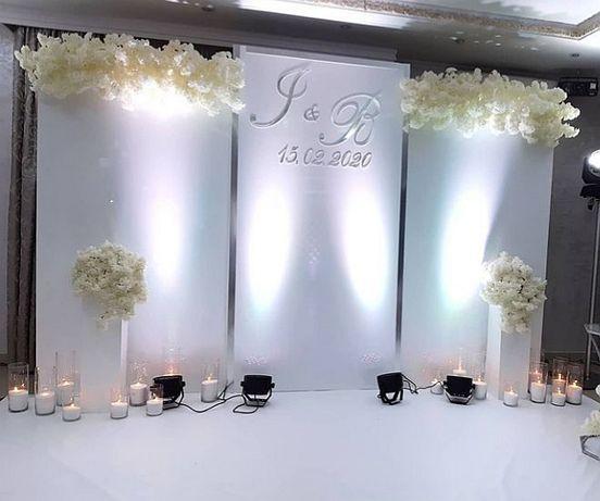Декор флористика фотозона президіум оформлення залу оформлення весілля