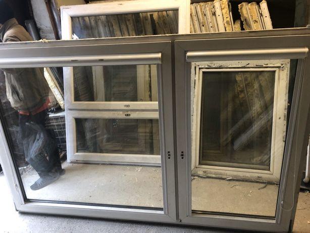 Okna PCV dwuskrzydłowe 138 wysokie 219 szeroki