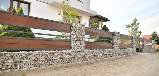 Ogrodzenia Gabionowe , Płoty Gabionowe , Ogrodzenie z kamienia