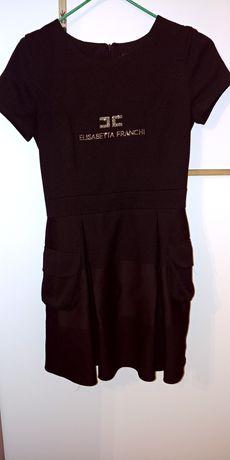 Sukienka czarna z kieszeniami