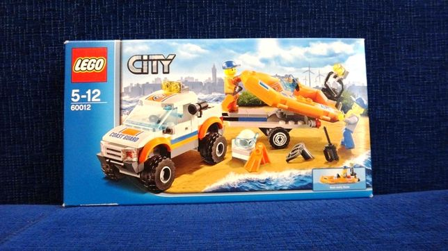 Lego City - wóz terenowy i łódź nurków COAST GUARD 4x4 DIVING BOAT