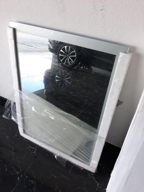Espelho WC 60x80 c/ moldura prateada no próprio vidro