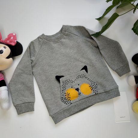 Теплый детский свитер на байке р.74