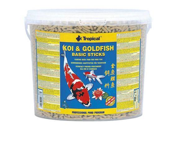 Pokarm dla Ryb KOI&GOLDFISH Basic Sticks 5l Tropical