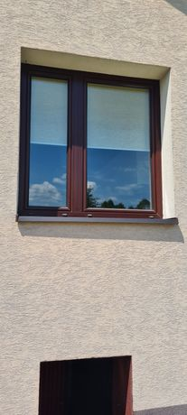 Okna PCV biało-brazowe