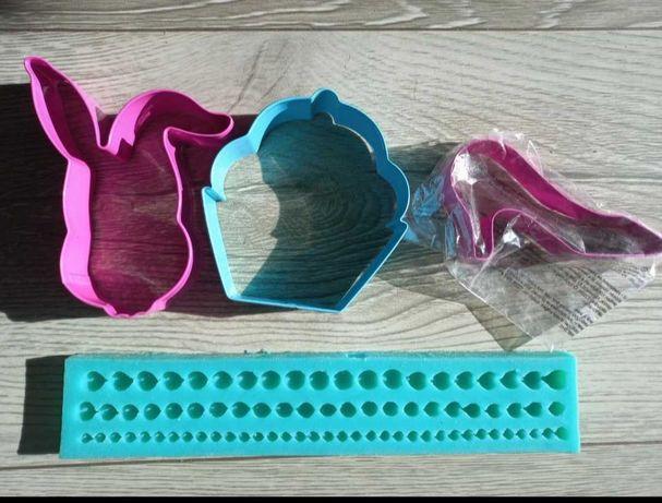 Forma silikonowa perły i wykrawaczki do ciastek