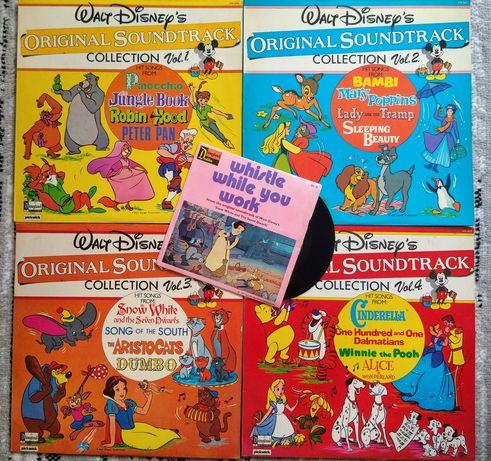 Płyty winylowe Walt Disney vol 1-4 lp + singiel 7