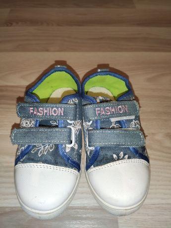 Макассины девочковые джинсовые