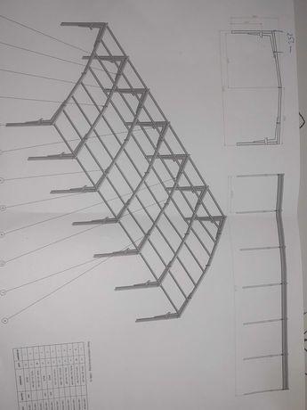 Konstrukcja hali stalowej 13x27x5