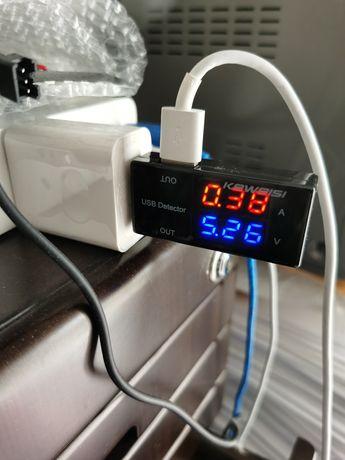 USB -Indicador de corrente e voltagem da qualquer fonta de USB