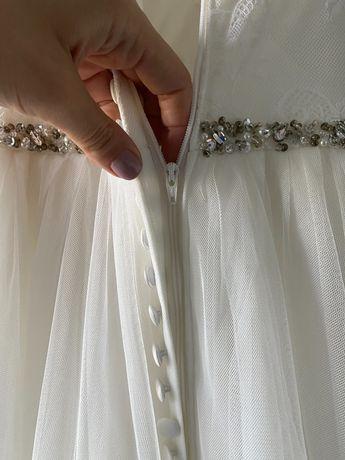 СРОЧНО. УЛЕТАЮ ИЗ УКРАИНЫ. Свадебное платье (куплено в Швейцарии)