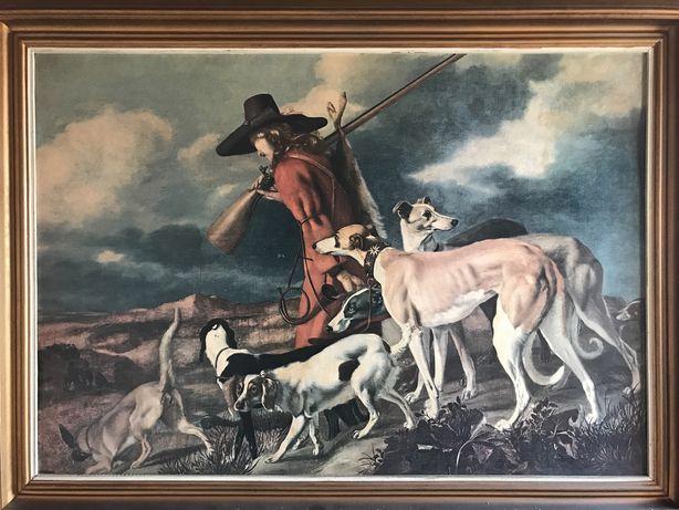 Quadro antigo de caça