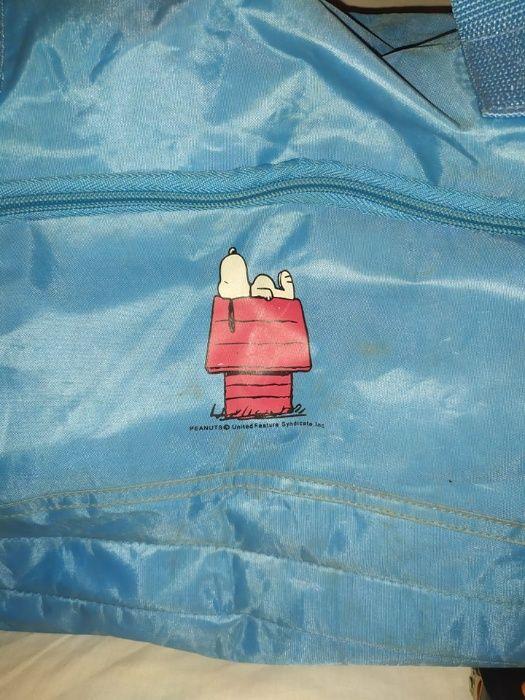 Saco / Mala de Viagem Azul Snoopy
