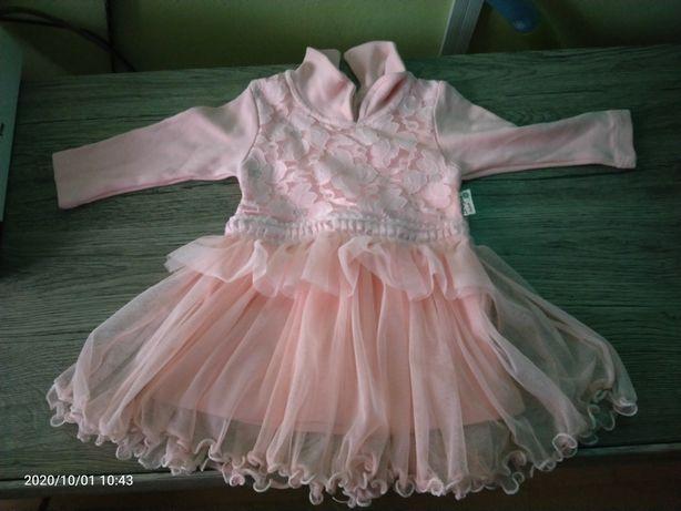 Morelowa sukienka rozm. 80