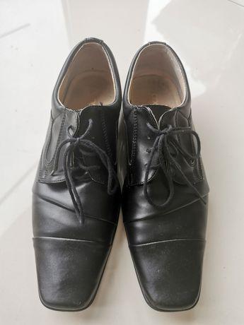 Buty galowe/komunijne chłopięce 36 dł. 23,5 cm