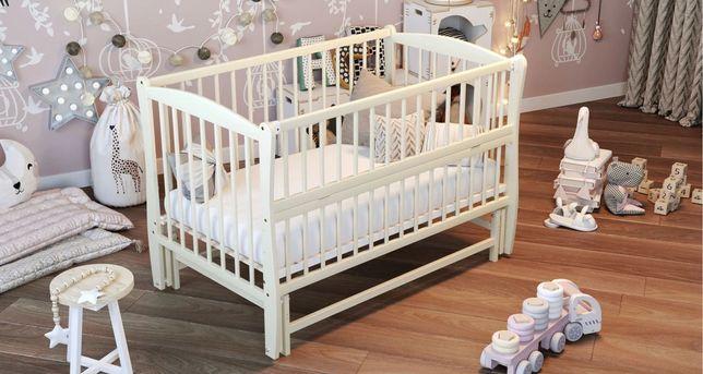 Кровать детская натуральное дерево дуб кроватка