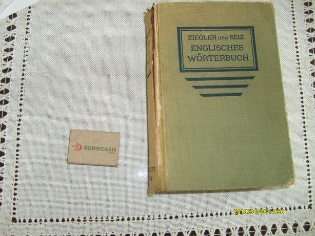 Słownik angielsko-niemiecki (Ziegler und Seiz) z 1942 r.Antyk.staroć