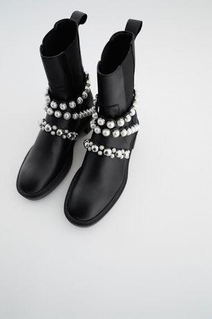 ботинки  Zara 39 размер кожа