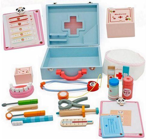Drewniany zestaw lekarski DOKTOR w walizce