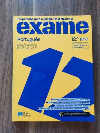 Livro de preparação para Exame Nacional de Português - Porto Editora